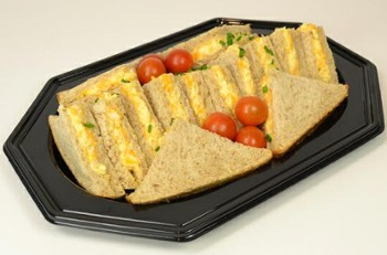 Taca cater. PET Sabert 27x19cm czarna