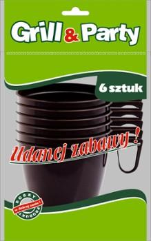 GRILL & PARTY filiżanki brązowe 160ml