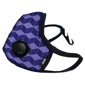 Maska DRAGON Casual M purple cube