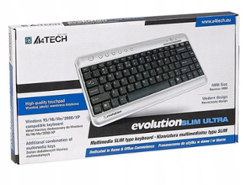 KLAWIATURA A4-TECH EVO SLIM ULTRA USB