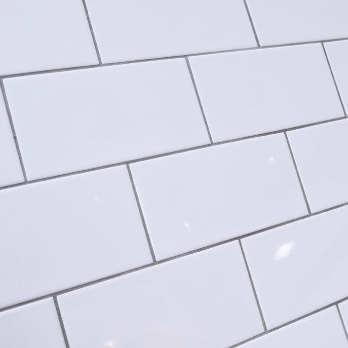 Blanco Brillo 10x20    ( Flat )