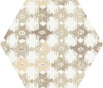 Tex Ivory Pattern Hexagon Nat 25x29