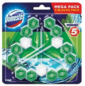 DOMESTOS WC Power 5 (3x55g) PINE
