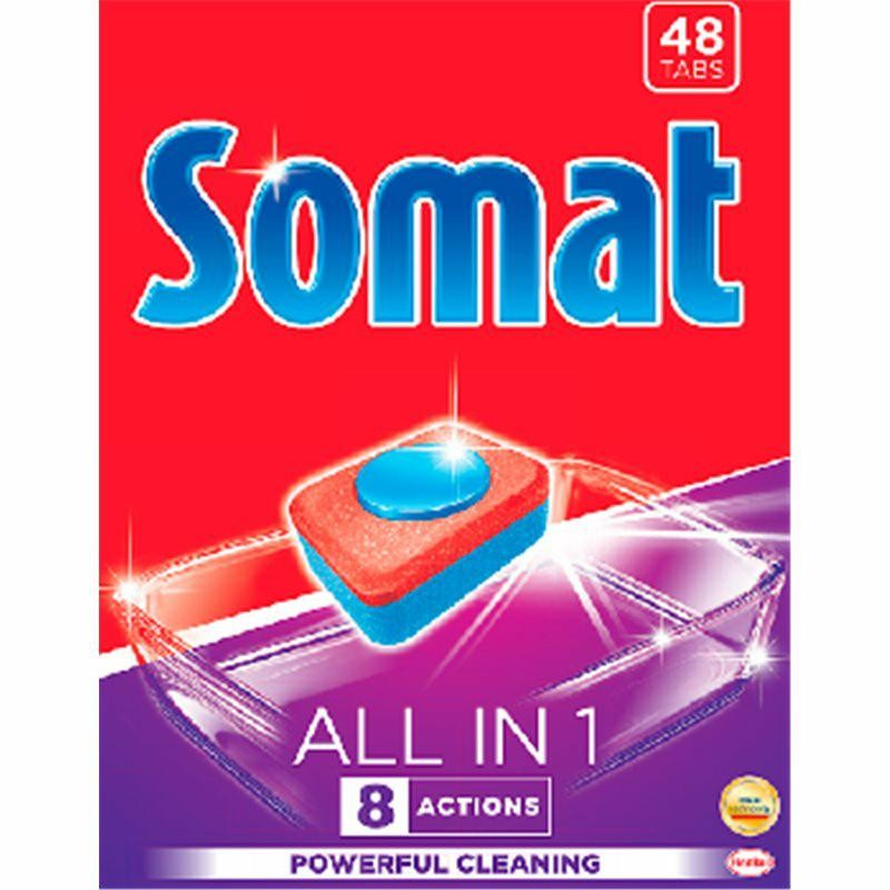SOMAT ALLI IN 1  tabletki do zmywarek 48 szt.