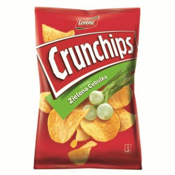 Chipsy ziel.cebulka Crunchips 140g