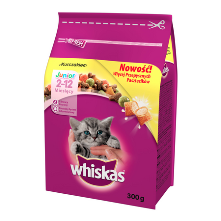 Whiskas Junior kurczak sucha karma 300 g