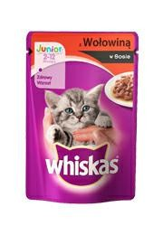 Whiskas Junior wołowina sos saszet. 100g
