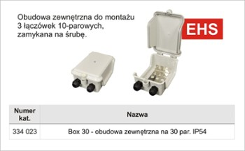 Box zew.30 par.IP45 na 3 łącz.-ABS