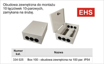 Box zew.100par.IP45 na 10 łącz.-ABS