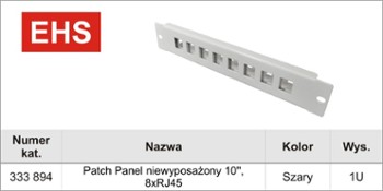 Patch-Panel  8x RJ45 10