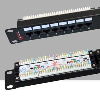 Patch Panel   UTP 24 Porty kat.5e     PL