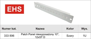 Patch-Panel  12 x ST10
