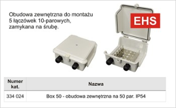 Box zew.50 par.IP45 na 5 łącz.-ABS