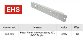 Patch-Panel  8 x SC Duplex 10