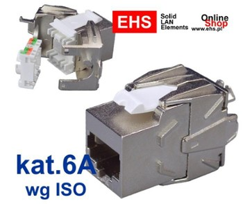 Gniazdo komp. FTP RJ45 kat.6A Toolless