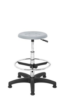 ERGOWORK POLO Special CH Grey stool