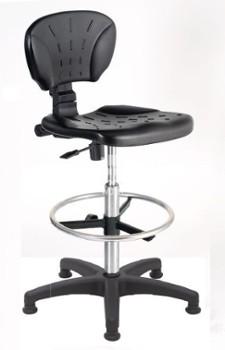 Krzesło laboratoryjne, przemysłowe, wysokie krzesła