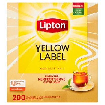 HERBATA LIPTON YELLOW LABEL CZARNA 400g