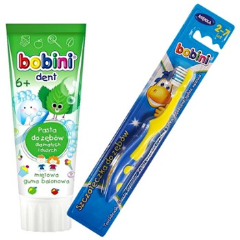 BOBINI Pasta do zęb. 75ml+szczot.6+ (12)