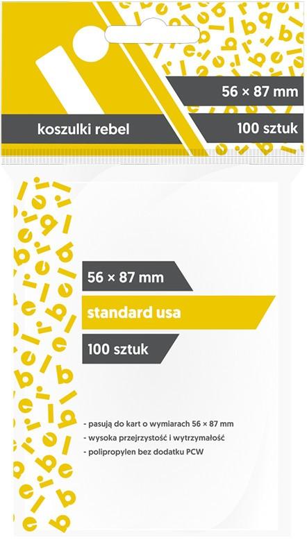 Koszulki na Karty Rebel (56x87 mm) standard usa
