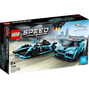 LEGO Speed 76898 Formula E Panasonic Jaguar GEN2 car i jaguar I-PACE eTROPHY