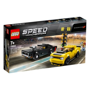 LEGO Speed 75893 2018 Dodge Challenger SRT Demon oraz 1970 Dodge Charger R/T