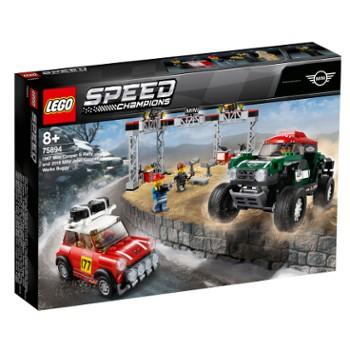 LEGO Speed 75894 1967 Mini Cooper S Rally oraz 2018 MINI John Cooper Works Buggy