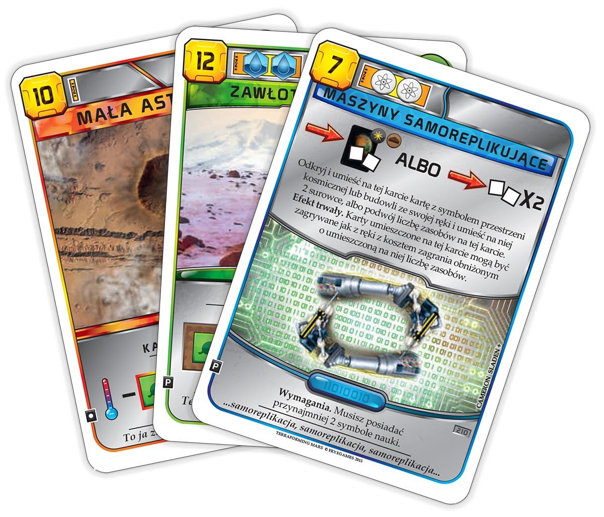 Terraformacja Marsa - zestaw dodatkowy 2 (3 karty)