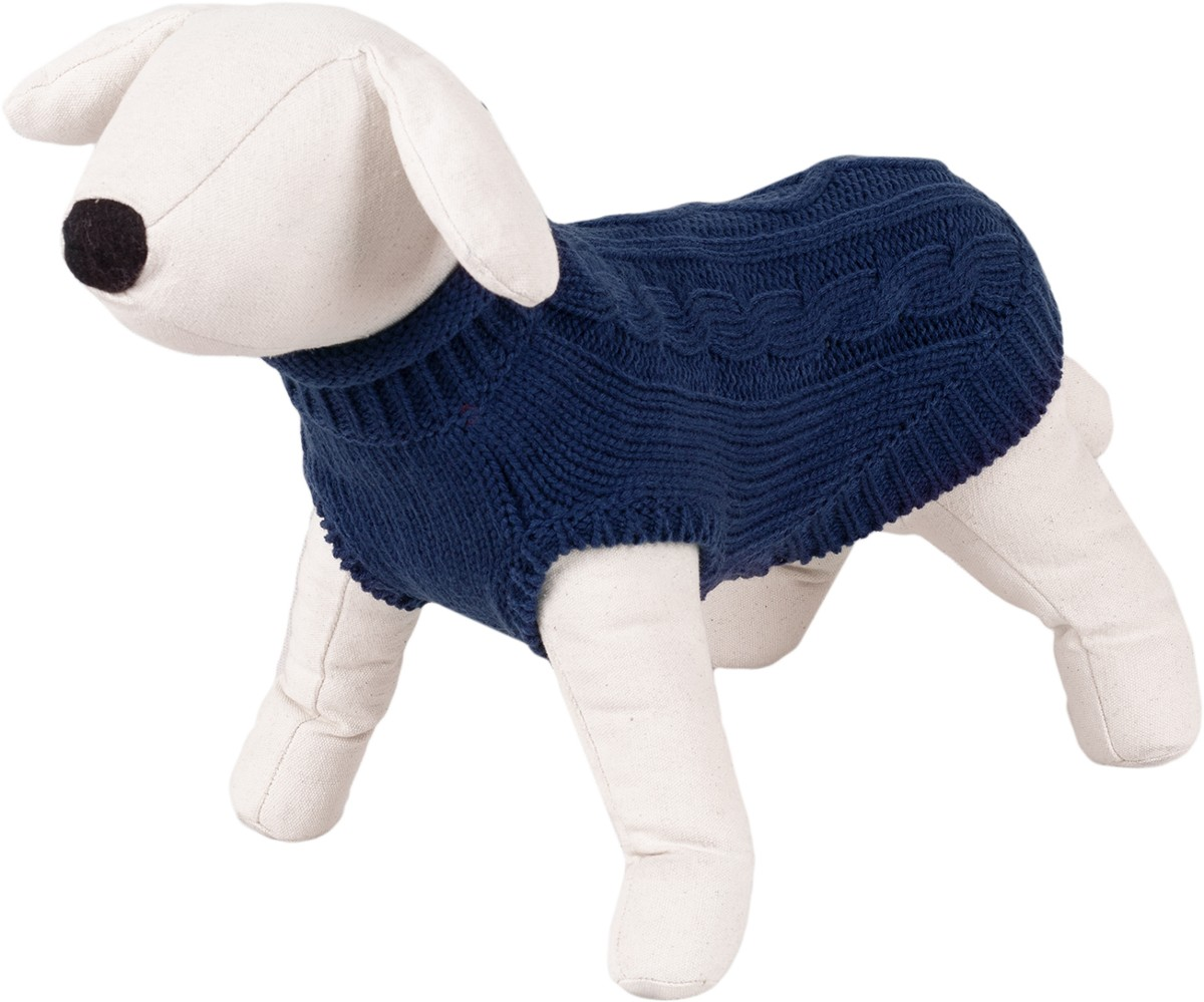 Dog Sweater / Knitted Pattern - Happet 500M - Blue M - 30cm