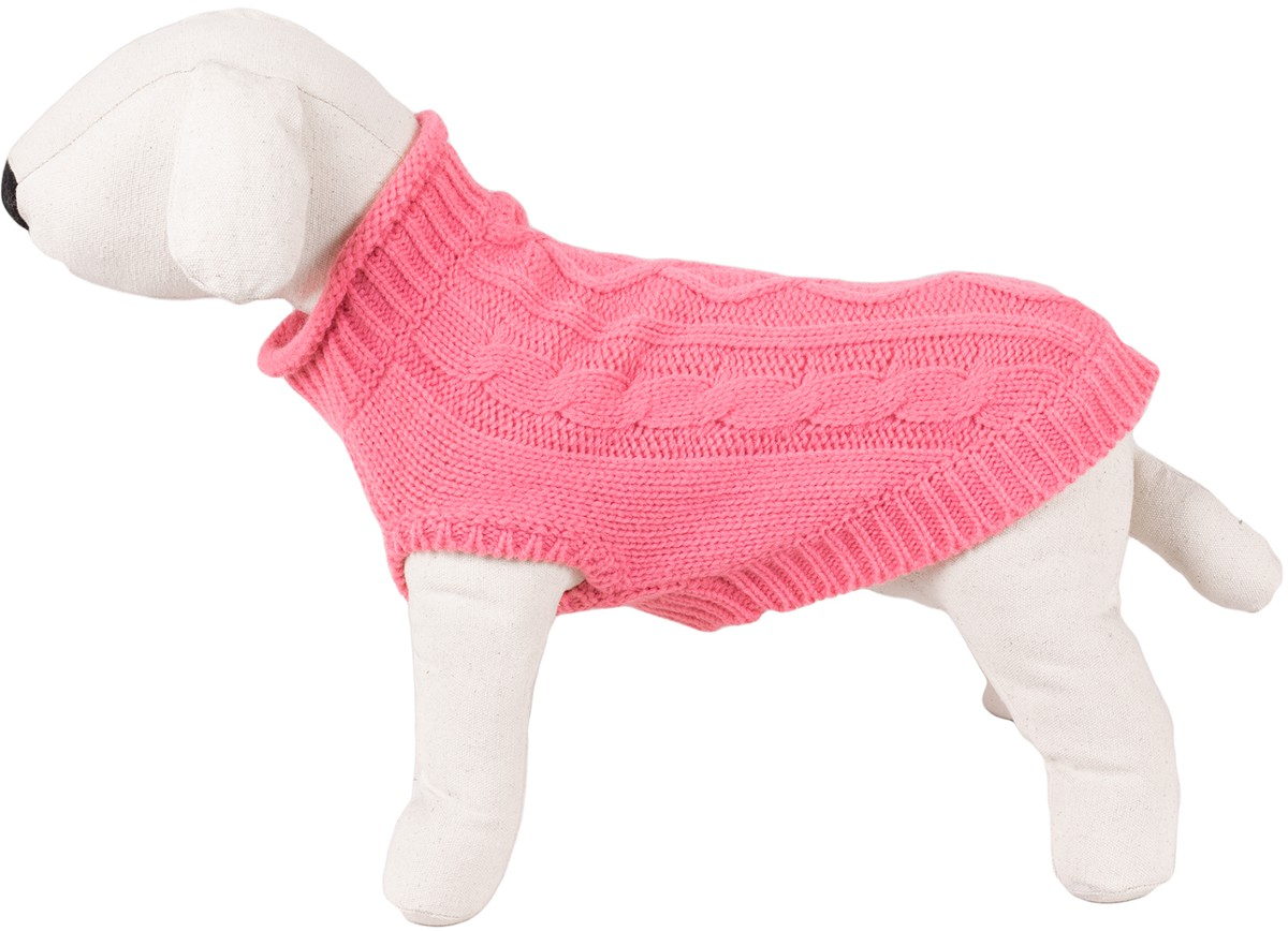 Dog Sweater / Knitted Pattern - Happet 49XL - Pink XL - 40cm