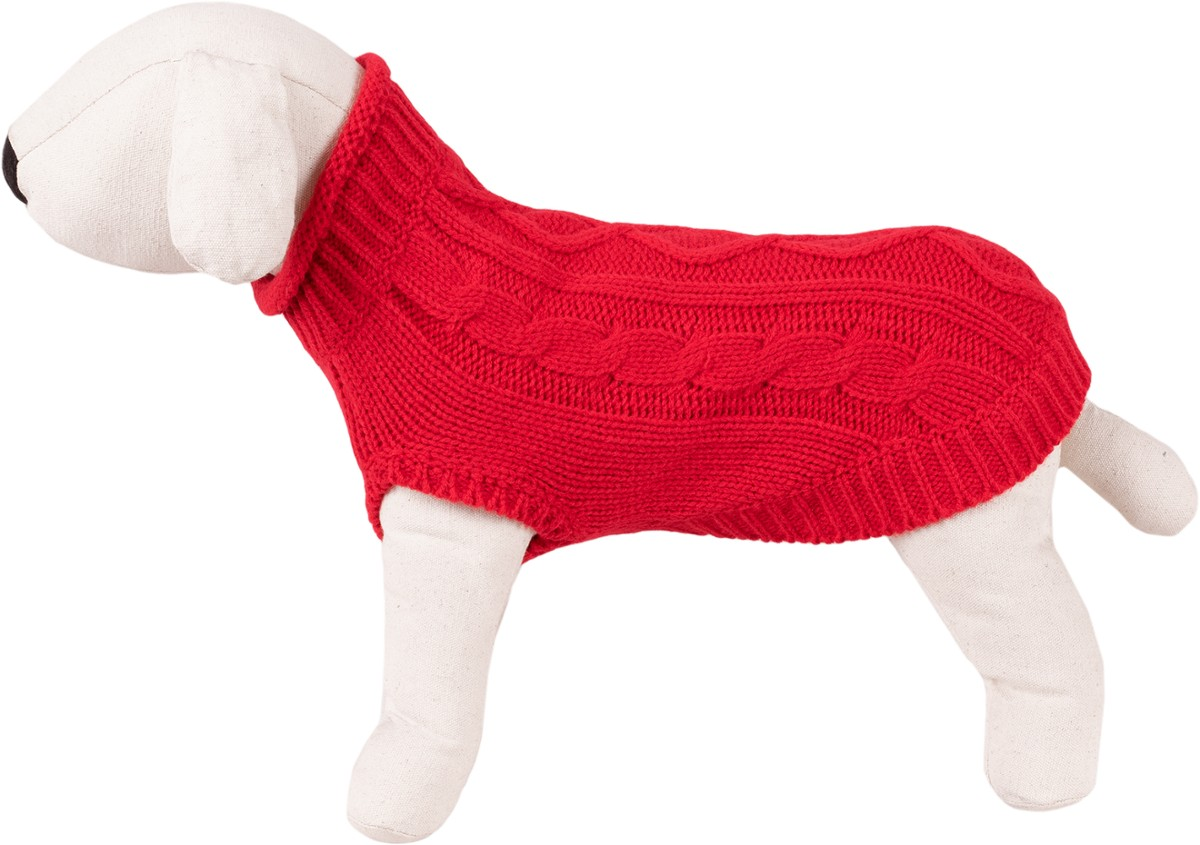 Dog Sweater / Knitted Pattern - Happet 510M - Red M - 30cm