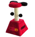Cat Scratching Post - Red & Black - Happet