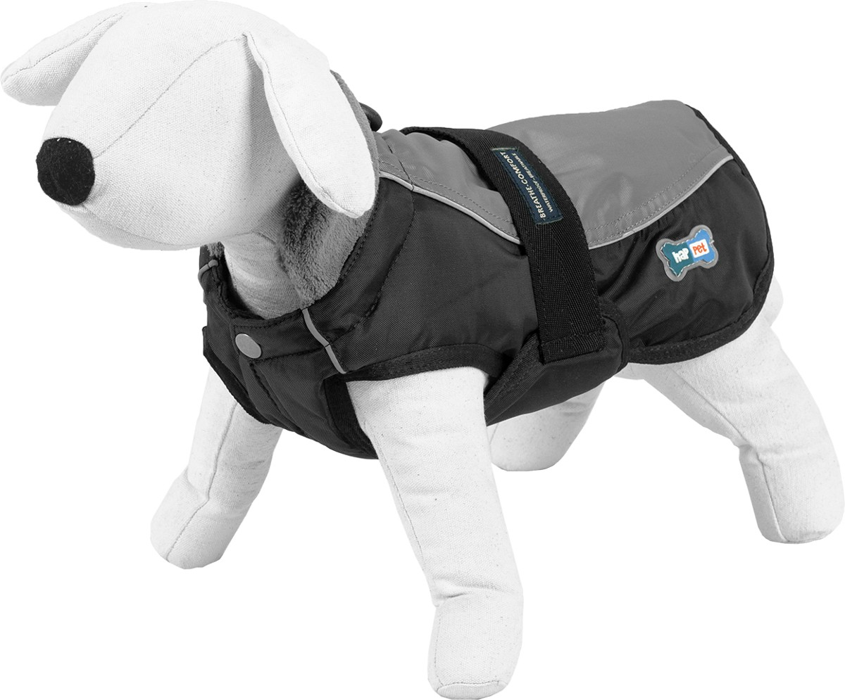 Fleece Dog Coat - Happet 355C - Grey XL - 65cm