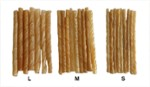 Natural rawhide twist stick 12,5cm/L 100pcs
