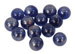 Glass ornaments balls blue