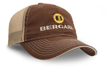 BERGARA Czapka brown and tan mesh