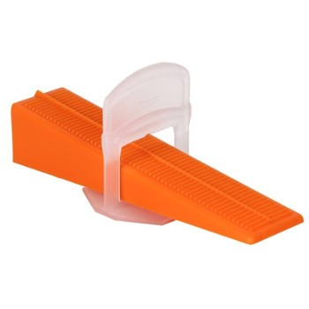 Tile leveling wedges & clips 2 mm