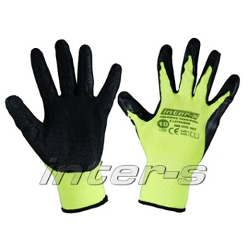 Cotton gloves latex coated