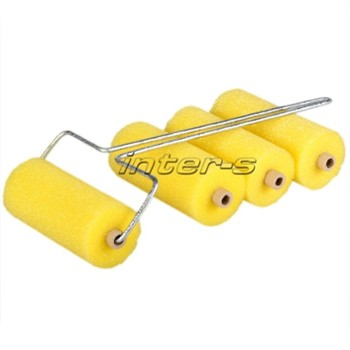 Flock roller set with handle 6 cm