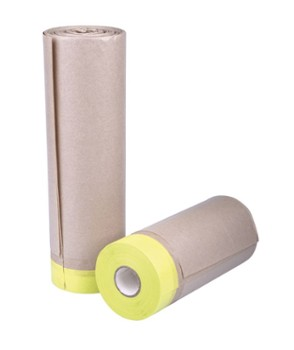 Pre taped masking paper 25mm/300mm/20m
