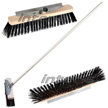 Street broom with metal scraper 40cm