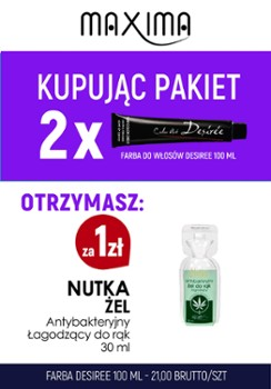 Farba 100 ml DESIREE x 2 + dezynfekcja 30ml żel