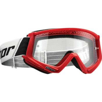 Gogle Thor COMBAT Youth red/black