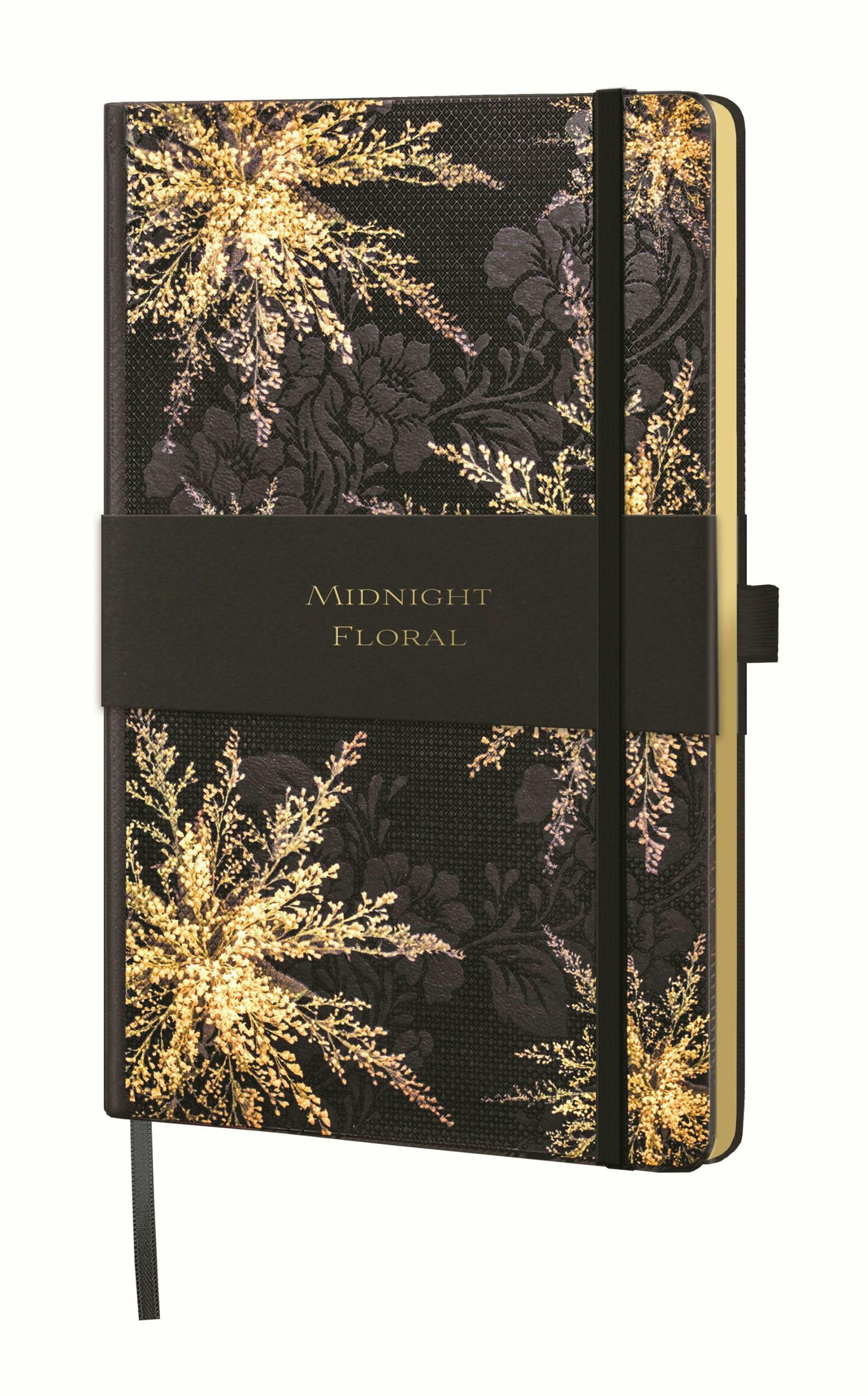notes A5/linia MIDNIGHT FLORAL heather