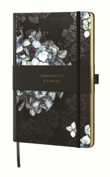 notes A5/linia MIDNIGHT FLORAL hydrangea