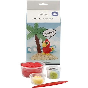 Papuga Pirata z masy Silk Clay