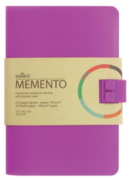 WAFF MEMENTO notes A6 Purpurowy