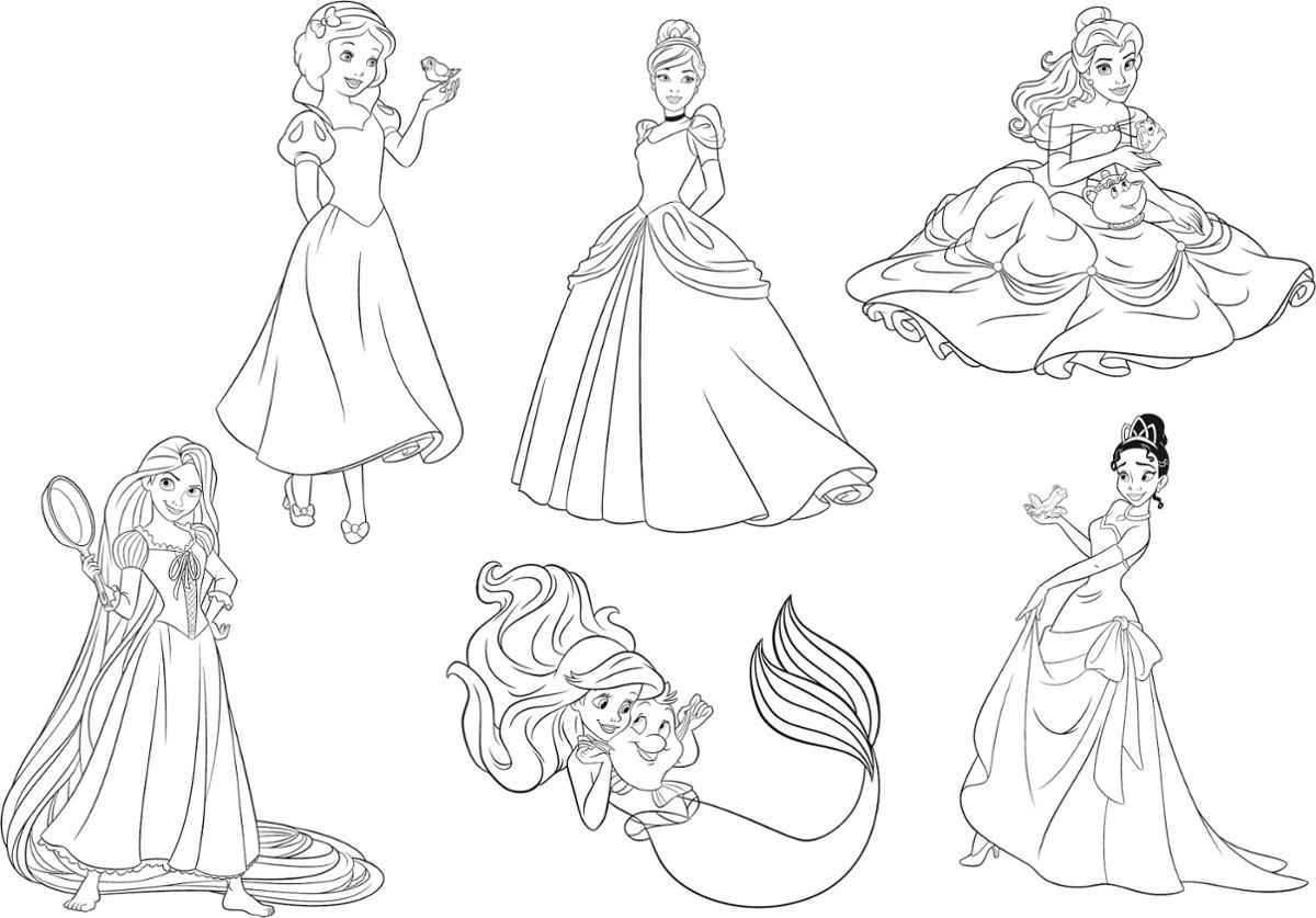 Najlepiej Kolorowanki Ksiezniczek Disneya Najlepsze Kolorowanki