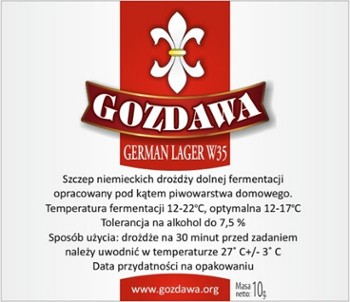 Gozdawa drożdże do piwa GERMAN LAGER 10g