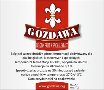Gozdawa drożdże do piwa BELGIAN FRUIT 10g